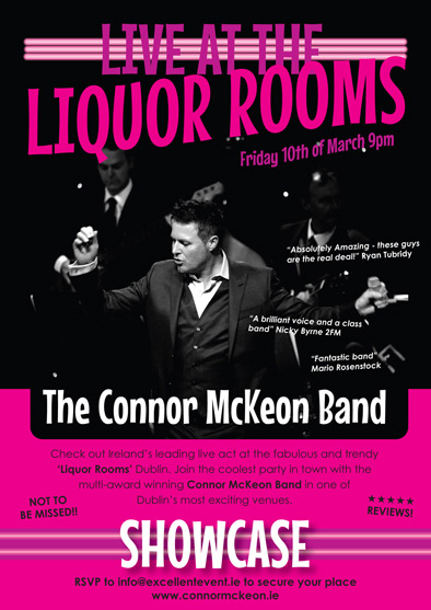 Live @ The Liquor Rooms Dublin! The Connor Mc Keon Band